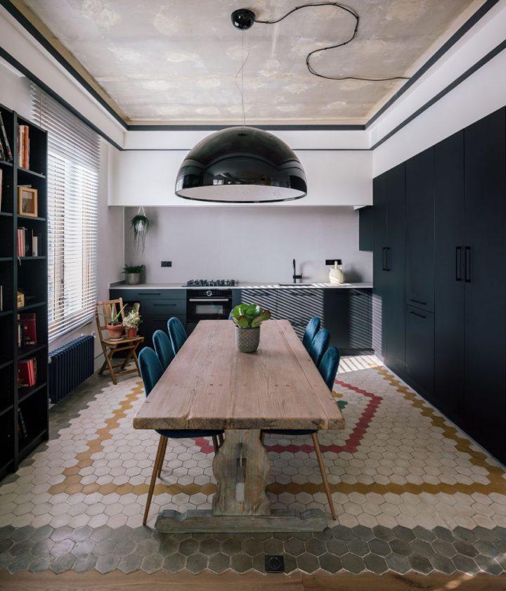 unique dining room of apartment