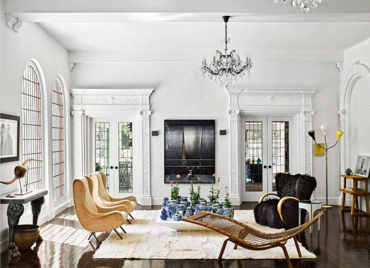 eclectic modern interior in Brigette Romanek's Ηome