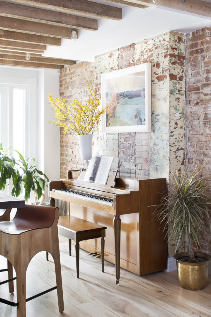 Brooklyn Townhouse with a beautiful piano