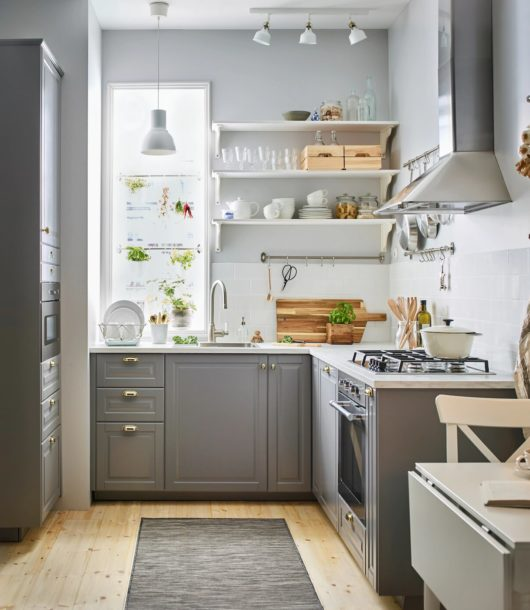 Classic grey with white IKEA kitchen