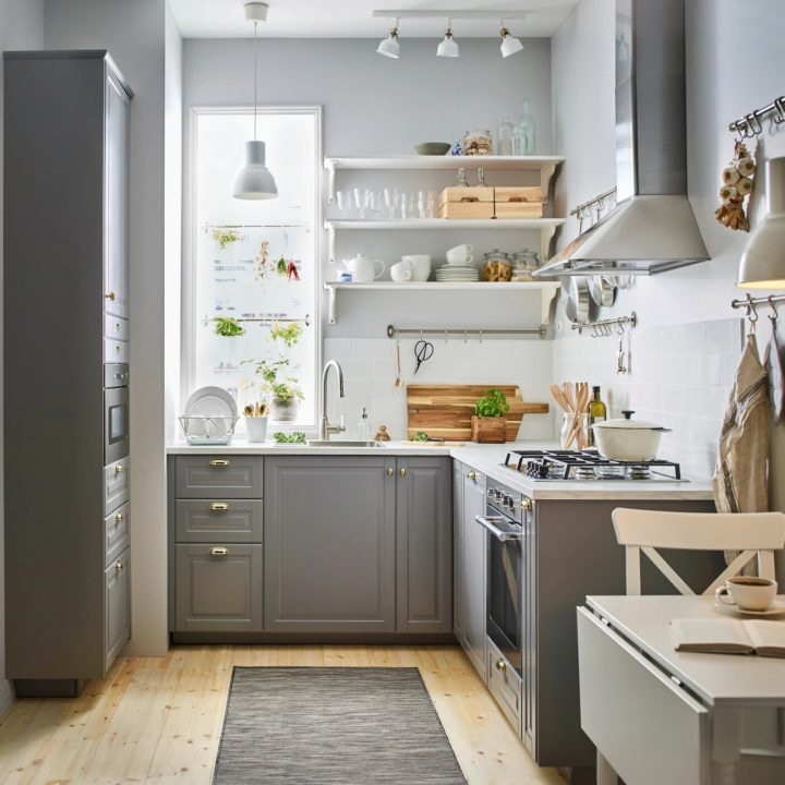 Classic grey with white IKEA kitchen to match your taste