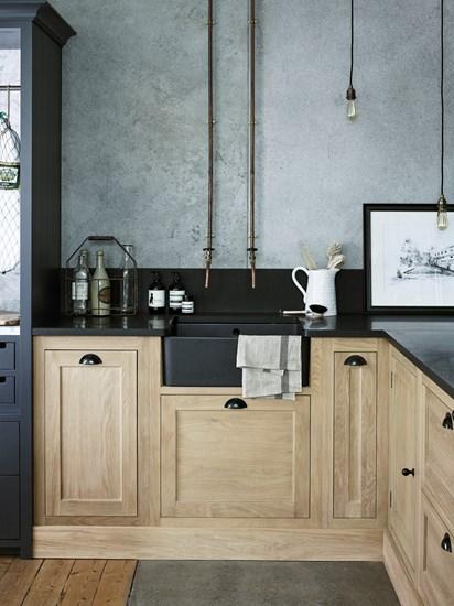 Innovative gray kitchen