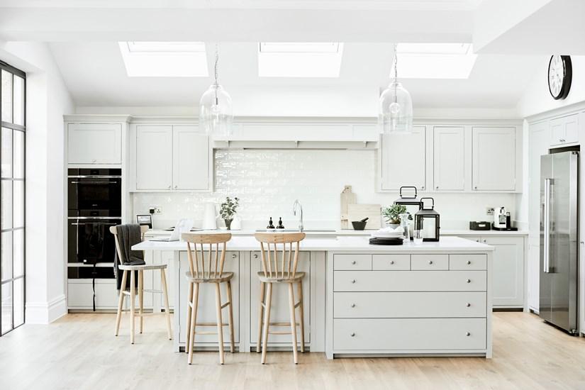 Bright white amazing kitchen design