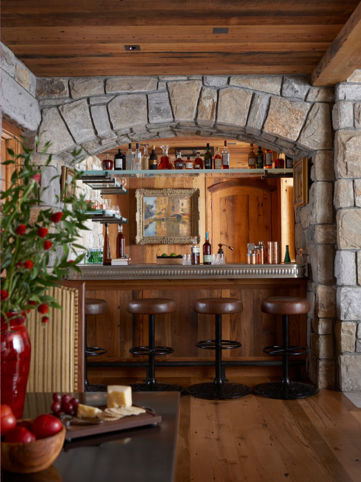Farmhouse basement bar idea