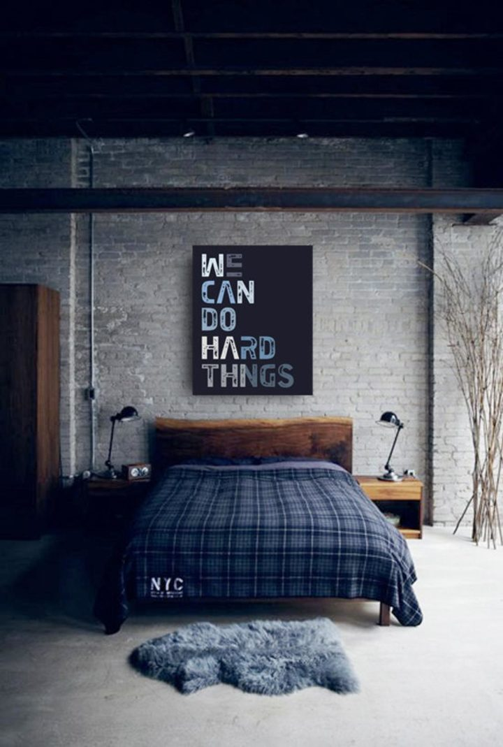 wall art bedroom idea for men