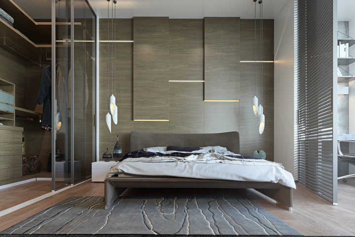 Modern bedroom idea for men