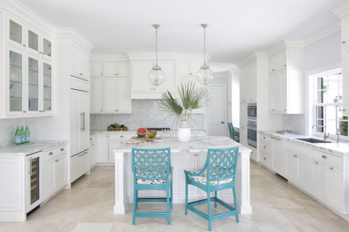 white kitchen with white cabinetry