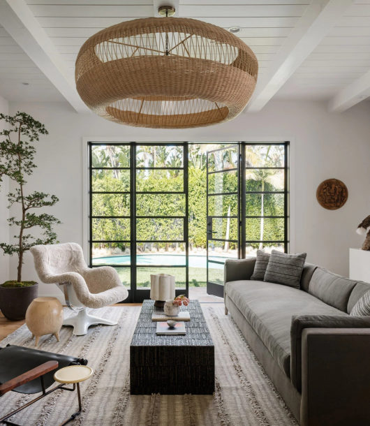 white interior with grey and dark grey elements