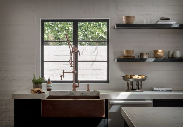 a small window that creates laid back luxury in the kitchen
