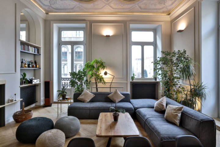 An Italian Contemporary Apartment With History