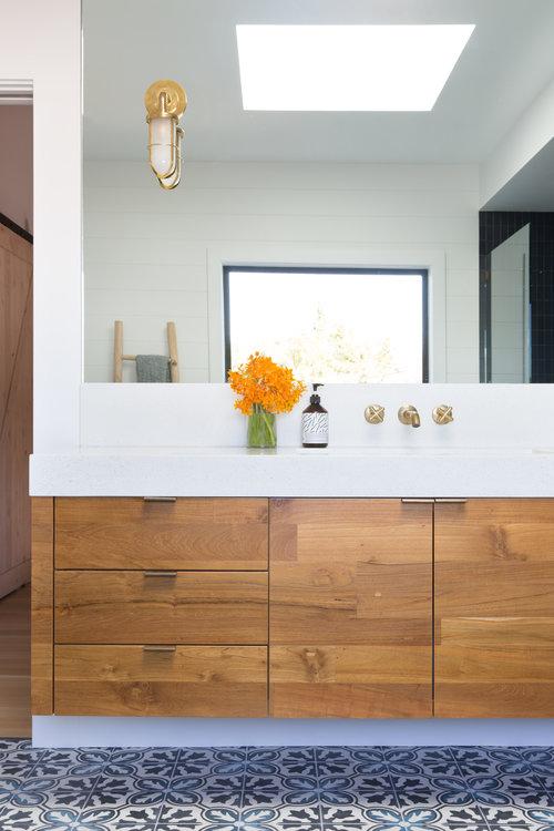 white walls in bathroom vanity