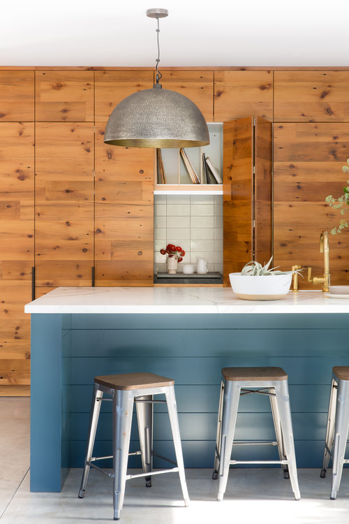 revival of interior kitchen with wooden elements