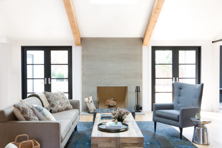 white interior with two big windows