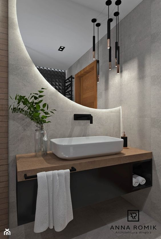 contemporary bathroom mirror design idea