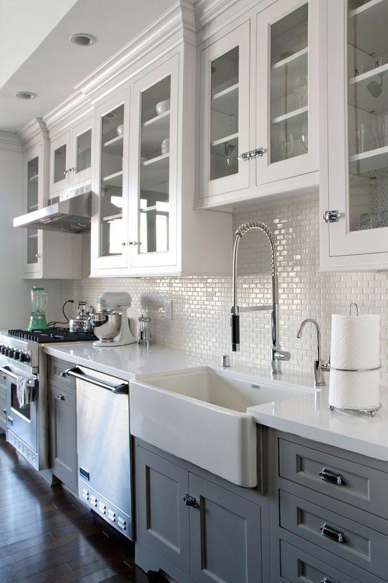 interior design ideas black and white cabinets