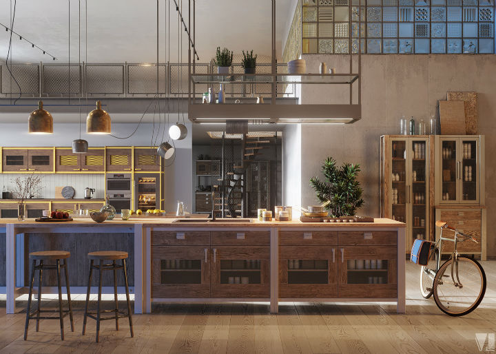 industrial Loft Kitchen Design 10