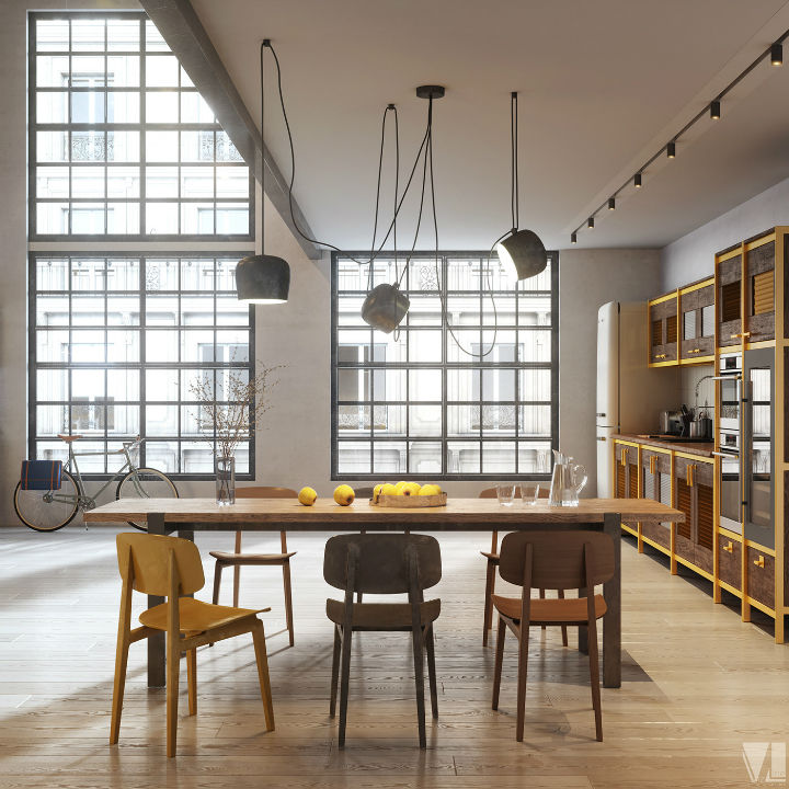 industrial Loft Kitchen Design 11
