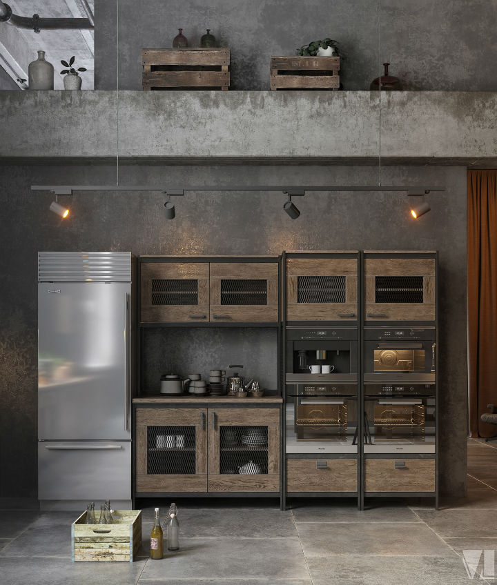 industrial Loft Kitchen Design 5