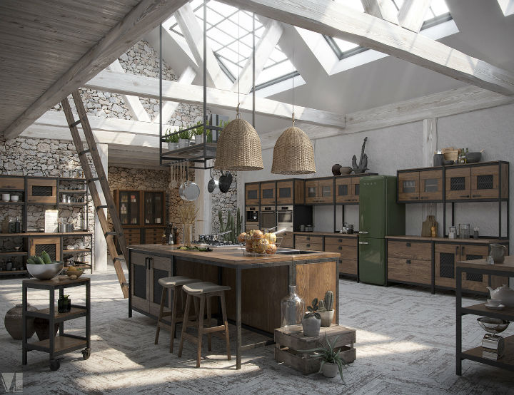 industrial Loft Kitchen Design 6