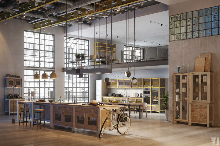 industrial Loft Kitchen Design 9