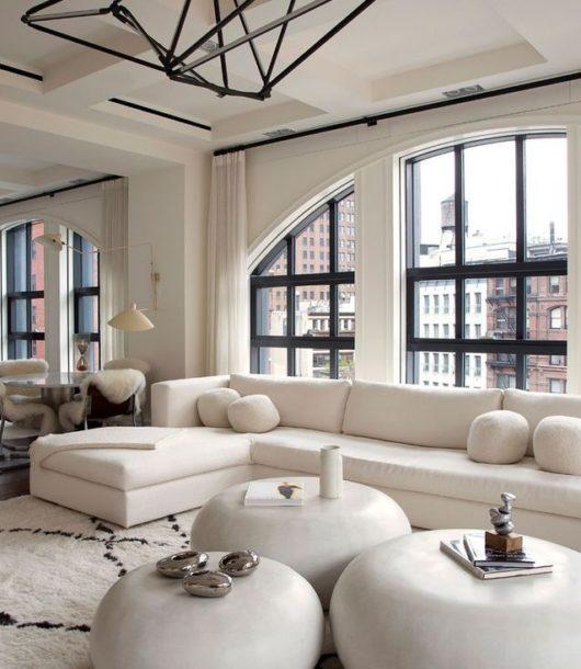 white eclectic modern Tribeca loft