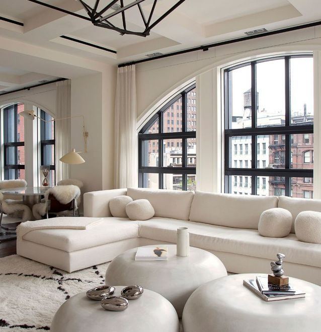 white eclectic modern Tribeca loft