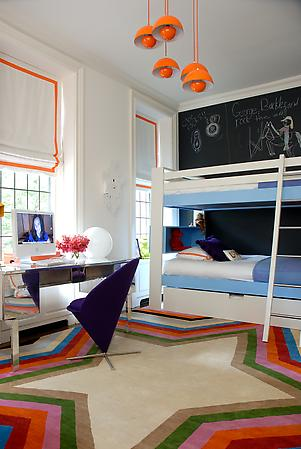 eclectic modern interior children's bedroom
