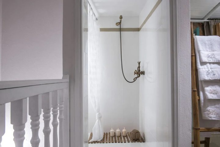 white minimal shower room