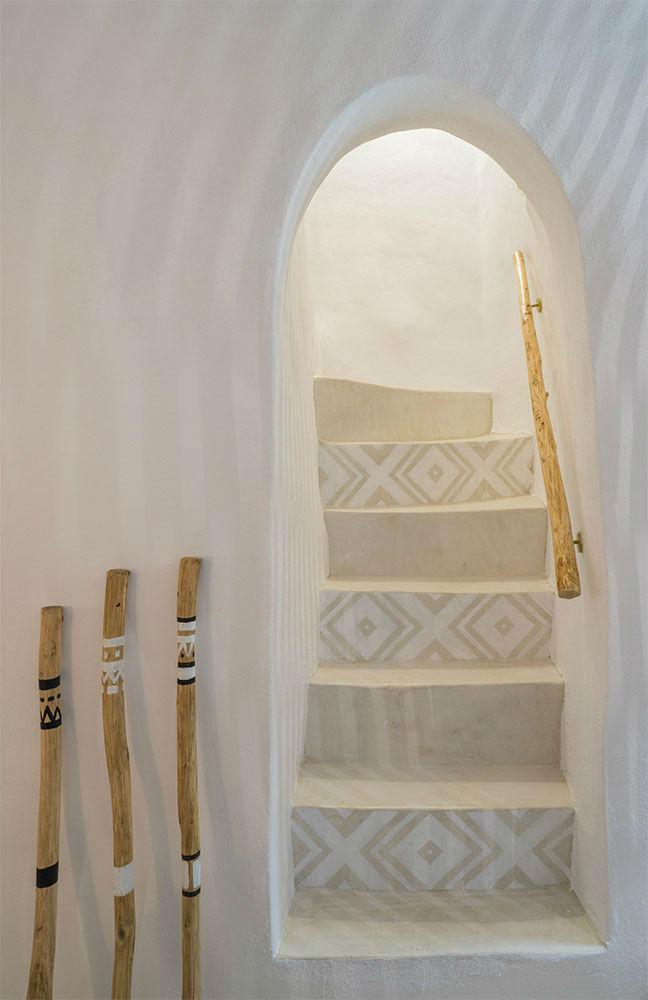 greek island architecture staircase