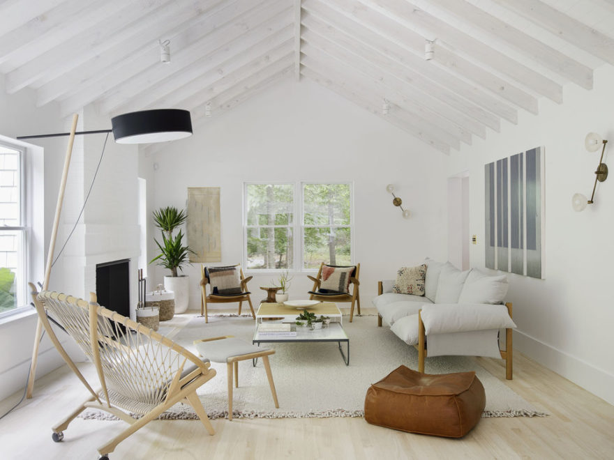 A Light Filled Scandinavian Inspired living room