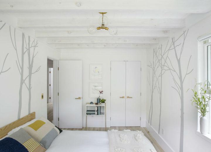 Scandinavian inspired fresh bedroom design
