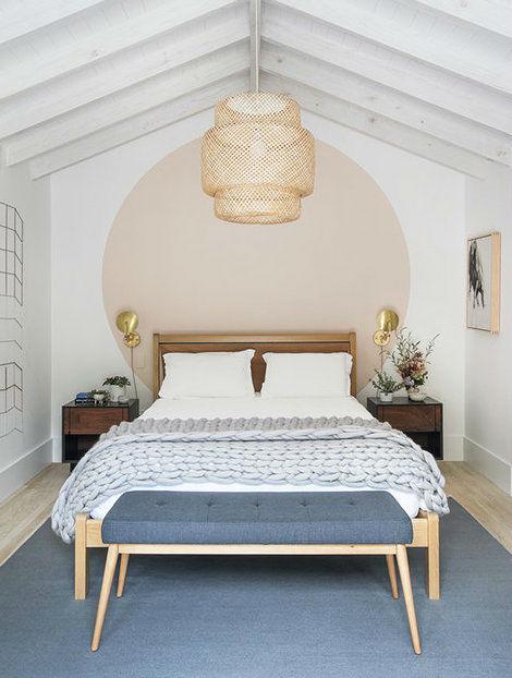 Scandinavian inspired fresh bedroom wall paint dea