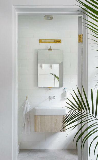 Scandinavian inspired fresh small bathroom