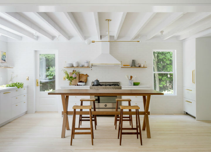 white Scandinavian inspired country kitchen design