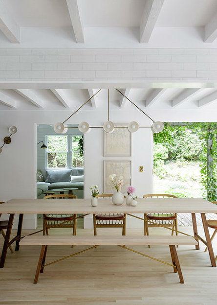 Scandinavian inspired fresh dining room