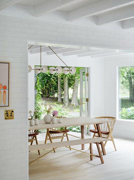 Scandinavian inspired fresh dining room idea