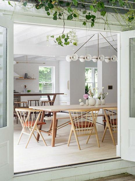 Scandinavian inspired fresh dining room design