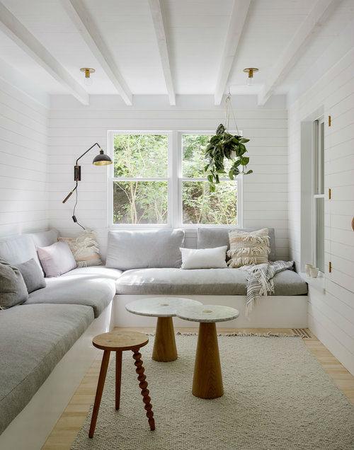 cozy fresh Scandinavian inspired fresh living room