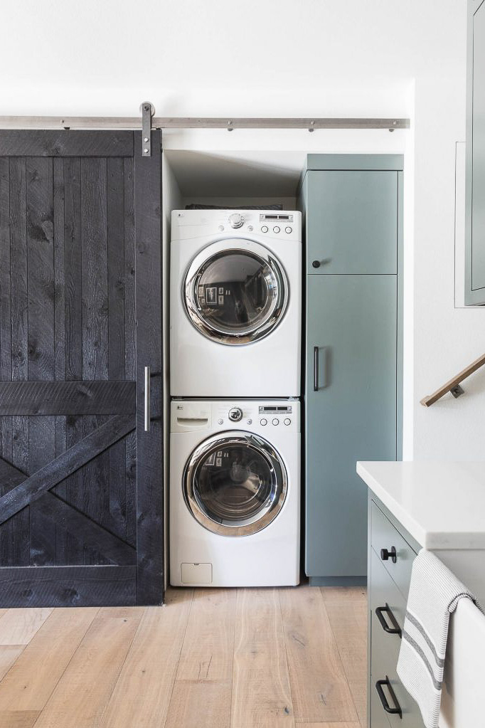 washer dryer decor idea