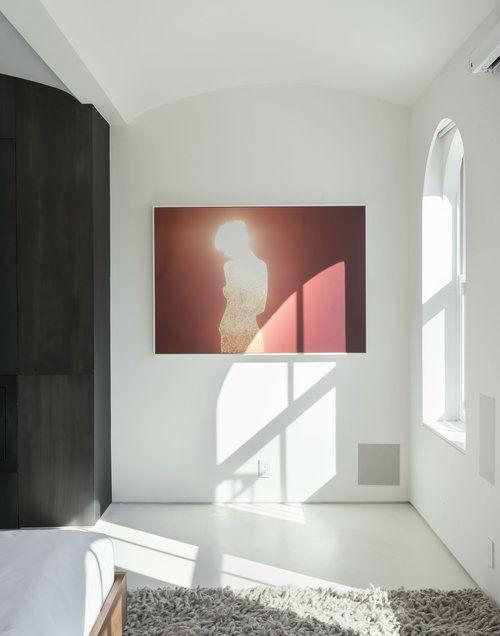 bedroom modern red wall art