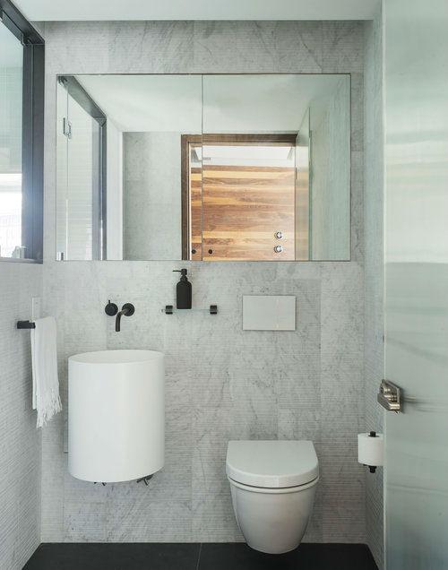 small minimalist white bathroom