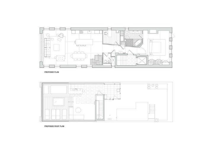 West Village penthouse floor plan