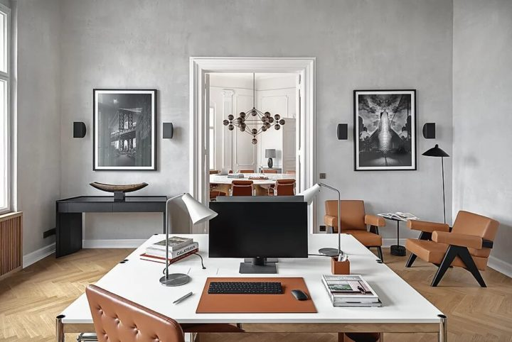Chic Office Interior That Inspire Productivity 13