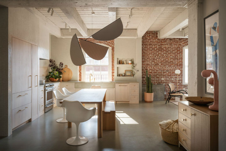 cozy minimalist home interior with brick wall pearl loft