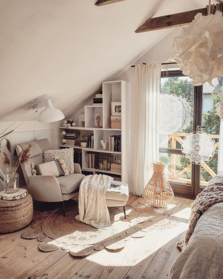attic living room nook decorating idea