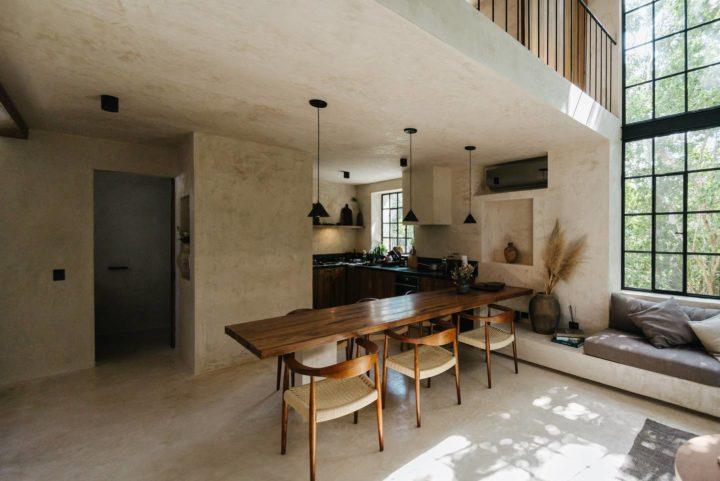 bohemian contemporary kitchen design