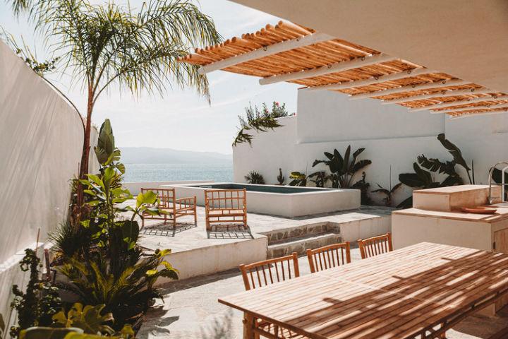 outdoor pool in a vacation villa