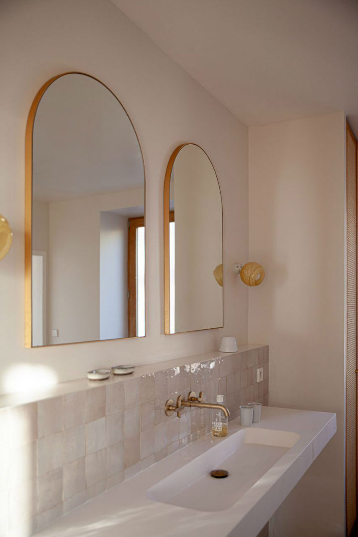 modern and chic bathroom vanity in a vacation villa