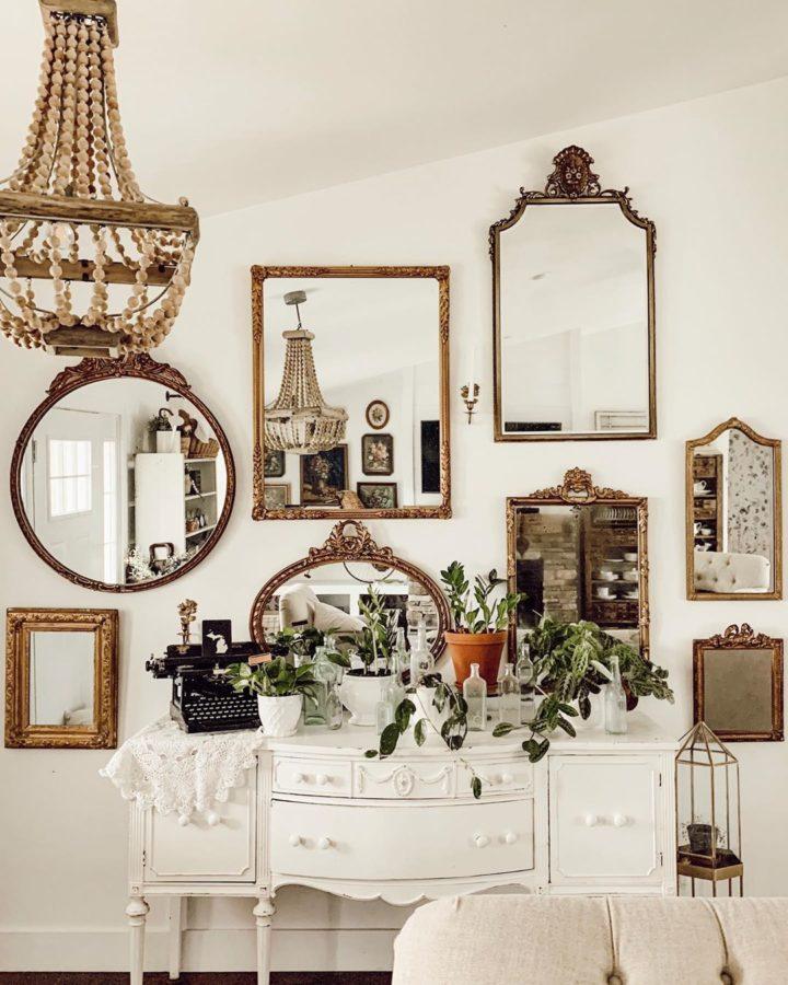 Plusieurs miroirs Collage décoration murale de salon