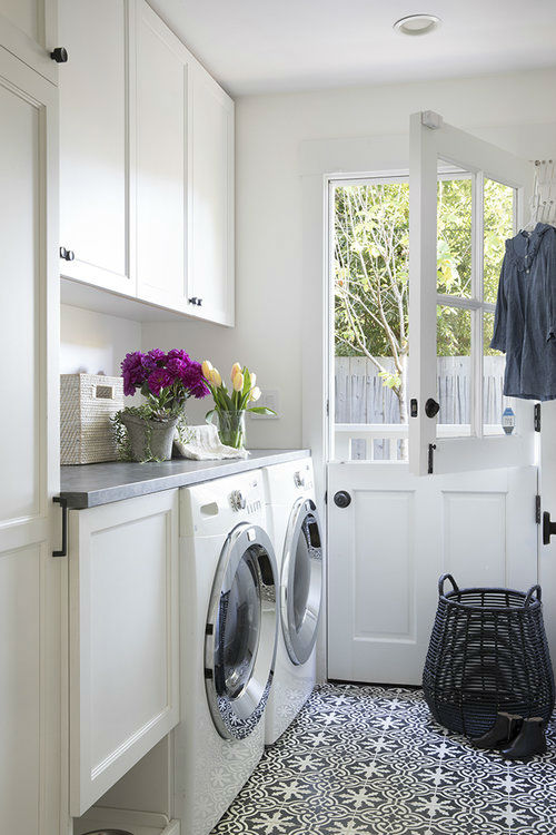 timeless chic laundry room